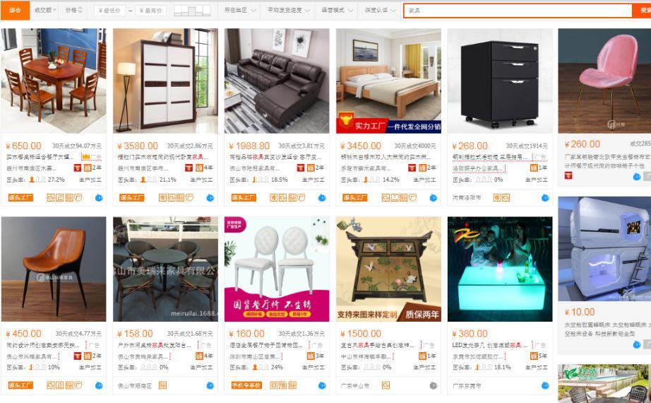 Nhập nguồn hàng kinh doanh nội thất Trung Quốc online
