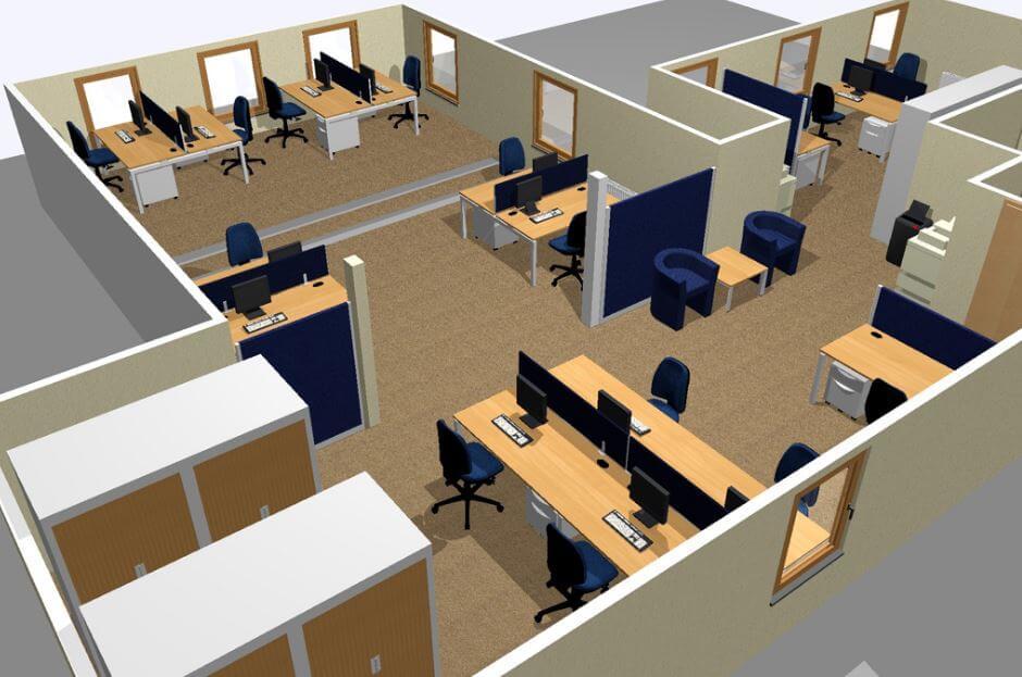 tiêu chuẩn thiết kế văn phòng chi tiết