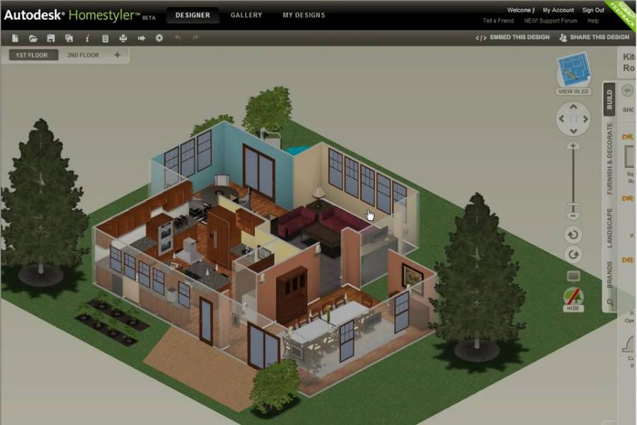 phần mềm thiết kế autodesk homestyler