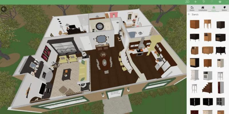 ứng dụng thiết kế nội thất 5d planner