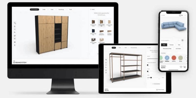 ứng dụng thiết kế nội thất roomle